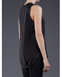 T By Alexander Wang | Black Oversized Tank Top | Lyst