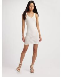 T By Alexander Wang - White Stretch Jersey Tank Dress - Lyst