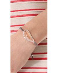 Tai - Natural Large Pave Stone Bracelet - Lyst