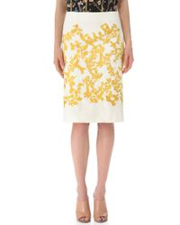 Thakoon - White Embroidered Skirt - Lyst