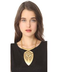 Theodora & Callum - Metallic Palapa Necklace - Lyst
