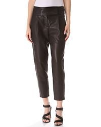 Theory - Black Kina Leather Trousers - Lyst