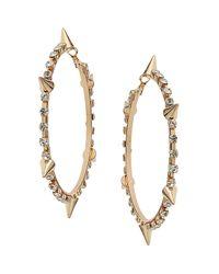 TOPSHOP | Metallic Rhinestone Spike Hoop Earrings | Lyst