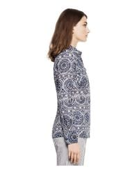 Tory Burch - Blue Printed Tunic - Lyst