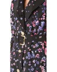 Versace | Floral Trench Coat | Lyst