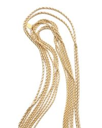 Wouters & Hendrix - Metallic 8 Strand Gold Chain Layered Necklace - Lyst