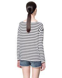 Zara | Black Striped Sweater | Lyst