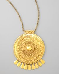 Aurelie Bidermann | Metallic Medallion Pendant Necklace | Lyst