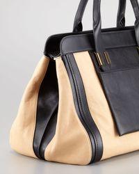 Chloé   Beige Alice Large Satchel Bag     Lyst