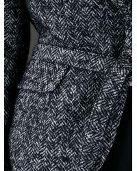 DSquared² - Black Herringbone Cropped Jacket - Lyst