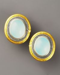 Gurhan | Blue Chalcedony Gauntlet Earrings | Lyst