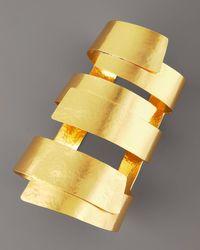 Herve Van Der Straeten - Metallic Wide Ribbon Cuff - Lyst