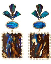 Irene Neuwirth - Yellow Boulder Opal Diamond Earrings - Lyst