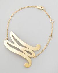 Jennifer Zeuner - Metallic Swirly Initial Bracelet - Lyst
