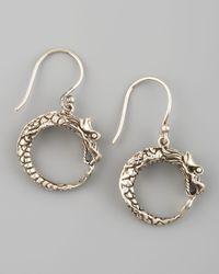 John Hardy - Metallic Dragon Hoop Earrings - Lyst
