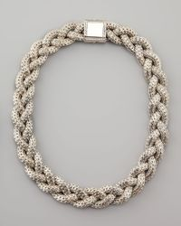 John Hardy | Metallic Large Braided Silver Chain Necklace Plain | Lyst