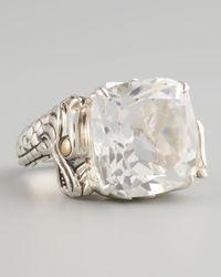 John Hardy - Metallic Naga Batu Ring White Topaz - Lyst