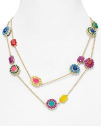kate spade new york - Multicolor Run Around Scatter Necklace 42 - Lyst
