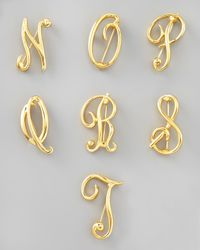 Kenneth Jay Lane - Metallic Golden Initial Pin - Lyst