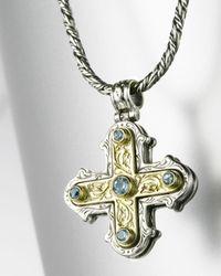 Konstantino - Metallic Square Maltese Cross Pendant - Lyst