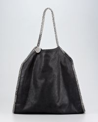 Stella McCartney | Black Falabella Large Tote | Lyst