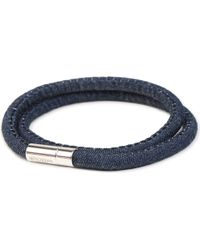 Tateossian - Blue Denim Scoubidou Bracelet - Lyst