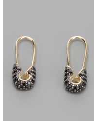 Tom Binns - Metallic Safety Pin Earrings - Lyst