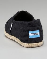 TOMS | Freetown Perforated Slip-on, Black | Lyst