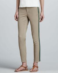 Vince | Natural Side-stripe Twill Pants | Lyst