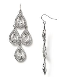 Carolee - Blue Pave Pear Chandelier Earrings - Lyst