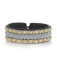 Maria Rudman | Black Embroidered Leather Bracelet | Lyst