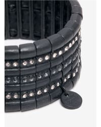 Philippe Audibert - Black Crystal-row Bracelet - Lyst
