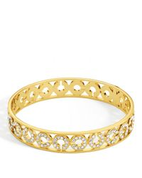 COACH | Metallic Half Inch Pierced Op Art Pave Bangle | Lyst