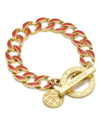 COACH - Red Toggle Chain Bracelet - Lyst