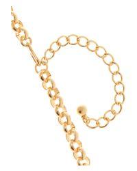 Kenneth Jay Lane - Orange Goldplated Enameled Necklace - Lyst