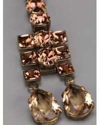 Lanvin - Metallic Crystal Drop Earrings - Lyst