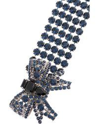 Miu Miu - Metallic Crystal Bow Bracelet - Lyst