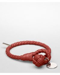 Bottega Veneta - Red Brique Intrecciato Nappa Bracelet for Men - Lyst