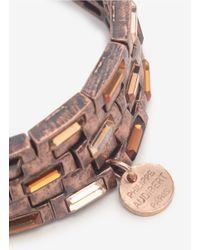 Philippe Audibert - Metallic Square Crystal Five-row Elasticated Bracelet - Lyst