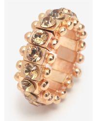 Philippe Audibert - Metallic Rosa Beaded Crystal Elasticated Ring - Lyst