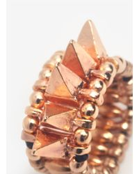 Philippe Audibert - Metallic Spiked Elasticated Ring - Lyst