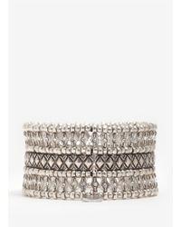 Philippe Audibert - Metallic Phil Three-row Crystal Beaded Bracelet - Lyst