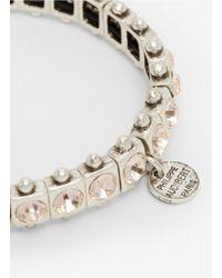 Philippe Audibert - Pink Rhinestone Elastic Bracelet - Lyst