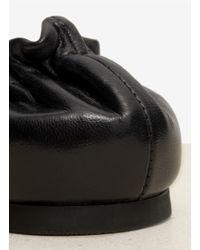 Tory Burch - Black Reva Leather Ballerina Flats - Lyst