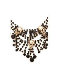 Adia Kibur - Black Skull Chandelier Necklace - Lyst