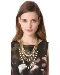 Adia Kibur - Metallic Layered Necklace - Lyst