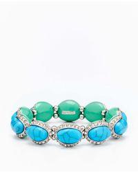 Ann Taylor - Green Tropic Stretch Bracelet - Lyst