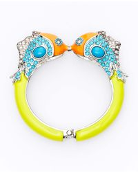 Ann Taylor | Multicolor Kissing Fish Bangle | Lyst