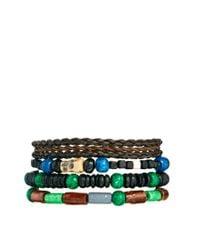 ASOS - Brown Bracelet Pack with Wooden Skulls for Men - Lyst