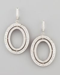 Ivanka Trump | White Signature Medium Oval Diamond Earrings | Lyst